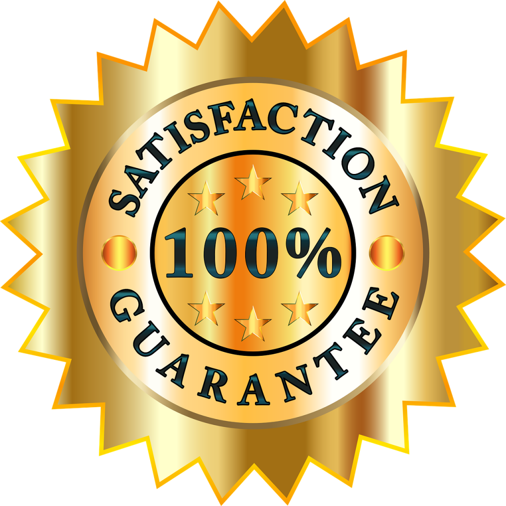 oven cleaning satisfaction guarantee